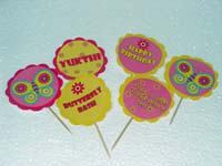 Butterfly Birthday theme Cup cake toppers